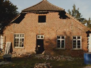 Anfang 2008 - Die Bauarbeiten haben begonnen (Rückseite)